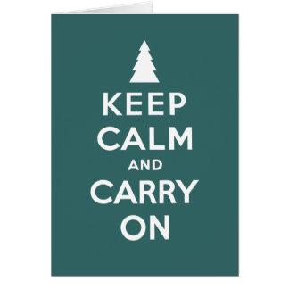 Mantenga tranquilo y continúe los días de fiesta tarjeta de felicitación