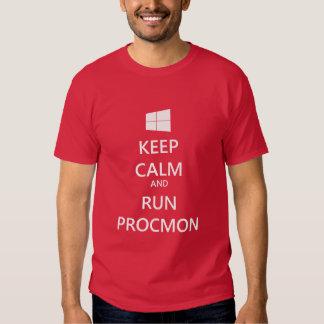 Mantenga tranquilo y corra ProcMon Playeras