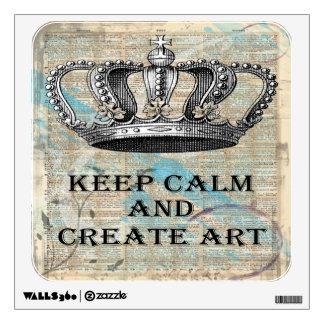 Mantenga tranquilo y cree el arte abstracto del