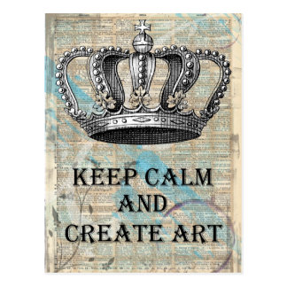 Mantenga tranquilo y cree el diseño del extracto tarjeta postal