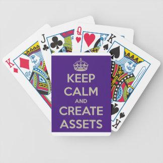 Mantenga tranquilo y cree los activos baraja cartas de poker
