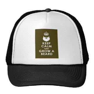 Mantenga tranquilo y crezca la barba gorras de camionero