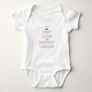 Mantenga tranquilo y destruya al cáncer 2 mameluco de bebé