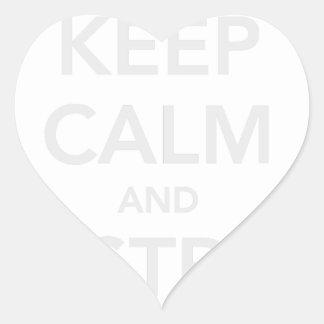 Mantenga tranquilo y destruya al cáncer pegatina en forma de corazón