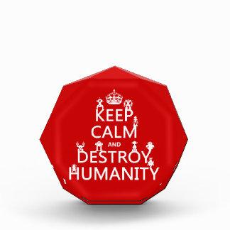 Mantenga tranquilo y destruya la humanidad los ro