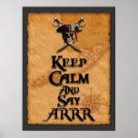 Mantenga tranquilo y diga ARRR Poster