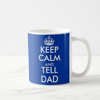 Mantenga tranquilo y diga el personalizable de la  taza de café