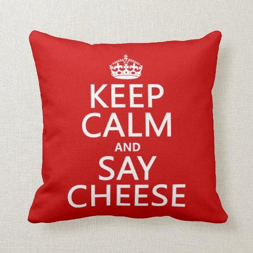 Mantenga tranquilo y diga el queso (fotografía) (c almohada