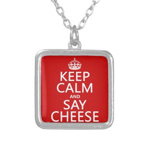 Mantenga tranquilo y diga el queso (fotografía) (c joyería