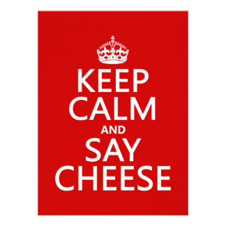 Mantenga tranquilo y diga el queso (fotografía) (c invitaciones personales