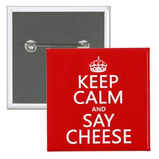 Mantenga tranquilo y diga el queso fotografía c pins