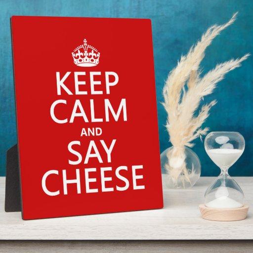 Mantenga tranquilo y diga el queso (fotografía) (c placas de plastico