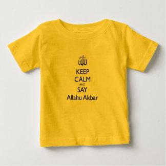 Mantenga tranquilo y diga la camiseta amarilla del playera