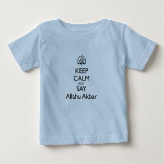 Mantenga tranquilo y diga la camiseta del bebé playeras