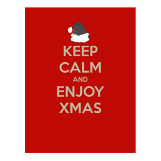 Mantenga tranquilo y disfrute de Navidad Tarjetas Postales
