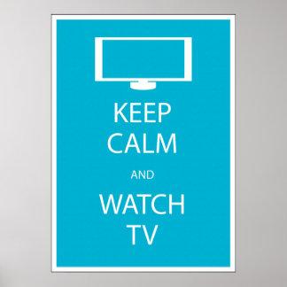 Mantenga tranquilo y el reloj TV Impresiones