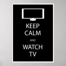 Mantenga tranquilo y el reloj TV Posters
