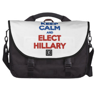 Mantenga tranquilo y elija a Hillary 2016 Bolsas De Portátil
