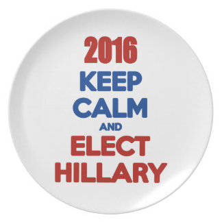 Mantenga tranquilo y elija a Hillary 2016 Plato De Cena