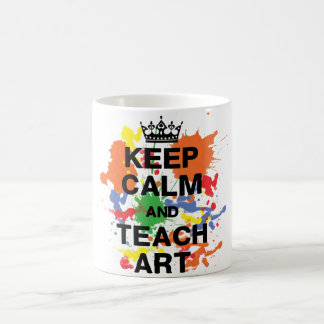 Mantenga tranquilo y enseñe a la taza del arte