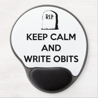 Mantenga tranquilo y escriba el mousepad de Obits Alfombrilla Gel