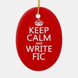 Mantenga tranquilo y escriba Fic - todos los Adorno Navideño Ovalado De Cerámica