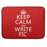 Mantenga tranquilo y escriba Fic - todos los color Funda Para Macbooks
