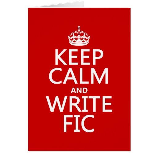 Mantenga tranquilo y escriba Fic - todos los color Tarjetas