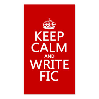 Mantenga tranquilo y escriba Fic - todos los color Tarjetas De Negocios