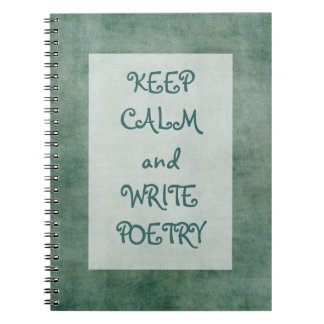 Mantenga tranquilo y escriba la poesía libreta