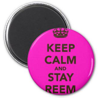Mantenga tranquilo y estancia Reem Imán Redondo 5 Cm