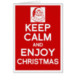 Mantenga tranquilo y goce de la tarjeta de Navidad