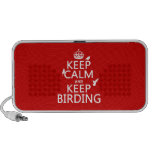 Mantenga tranquilo y guarde Birding (cualquier col Mp3 Altavoz