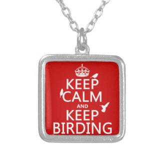 Mantenga tranquilo y guarde Birding cualquier col Grimpolas