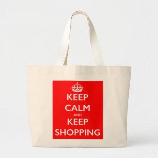 Mantenga tranquilo y guarde el bolso de compras bolsa tela grande