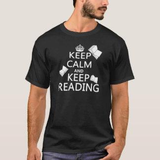 Mantenga tranquilo y guarde el leer playera