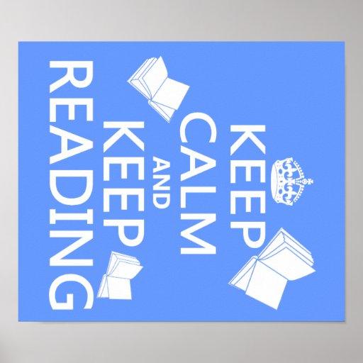 Mantenga tranquilo y guarde el leer póster