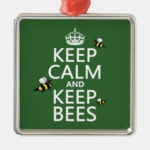 Mantenga tranquilo y guarde las abejas - todos los ornamento de navidad