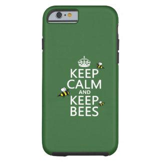 Mantenga tranquilo y guarde las abejas - todos los funda de iPhone 6 tough