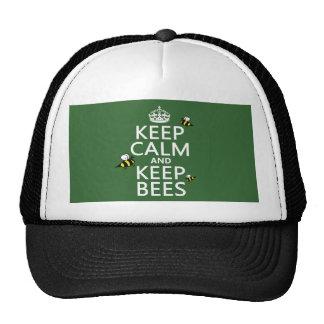 Mantenga tranquilo y guarde las abejas - todos los gorra