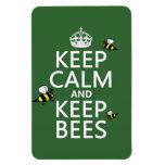 Mantenga tranquilo y guarde las abejas - todos los imán de vinilo