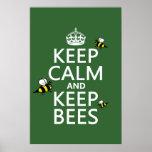 Mantenga tranquilo y guarde las abejas - todos los impresiones