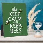 Mantenga tranquilo y guarde las abejas - todos los placas de madera