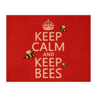 Mantenga tranquilo y guarde las abejas - todos los papel de corcho para fotos
