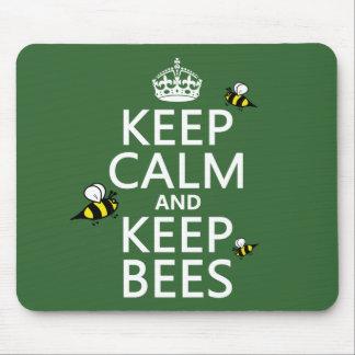 Mantenga tranquilo y guarde las abejas - todos los alfombrillas de ratones