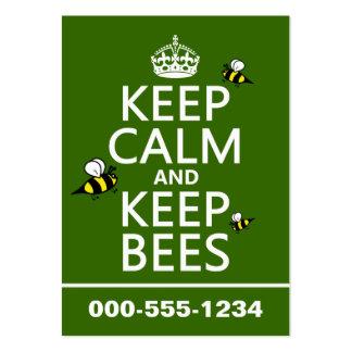 Mantenga tranquilo y guarde las abejas - todos los tarjetas de visita grandes