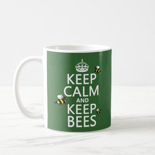 Mantenga tranquilo y guarde las abejas - todos los taza básica blanca