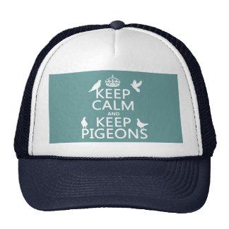Mantenga tranquilo y guarde las palomas - todos gorro de camionero