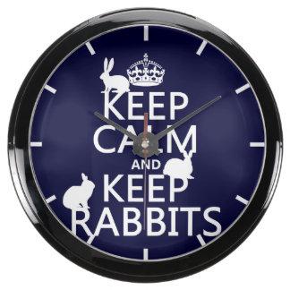 Mantenga tranquilo y guarde los conejos - todos reloj aquavista