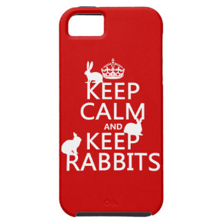 Mantenga tranquilo y guarde los conejos - todos funda para iPhone SE/5/5s